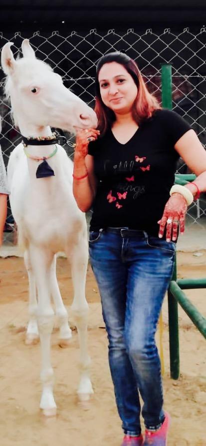 Madhu yadav in her farm