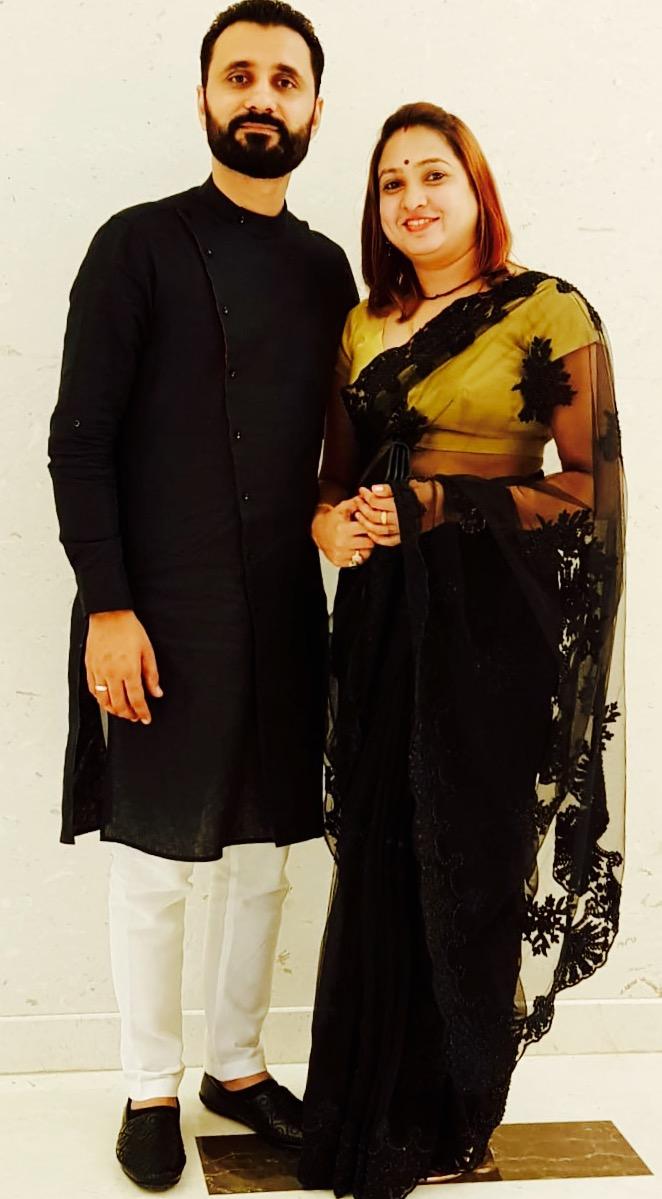 Madhu yadav with husband